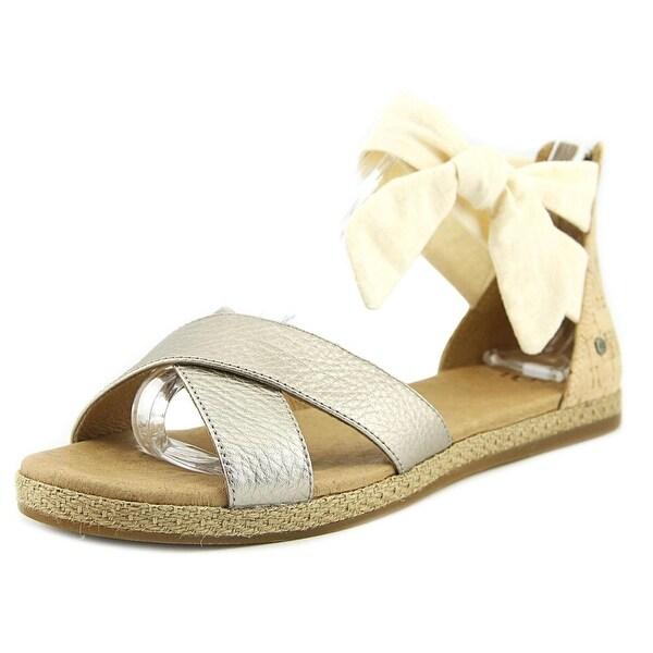 UGG Idina Women Open Toe Leather Gold Gladiator Sandal