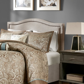Link to Augusta Linen Upholstery Headboard by Madison Park Similar Items in Bedroom Furniture