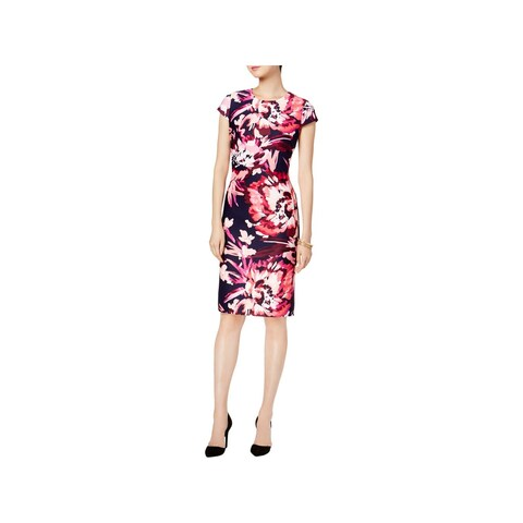 Vince Camuto Womens Party Dress Floral Print Knee-Length