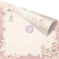 """Love Story Pink Foiled Double-Sided Cardstock 12""""X12""""-Love On Top"""