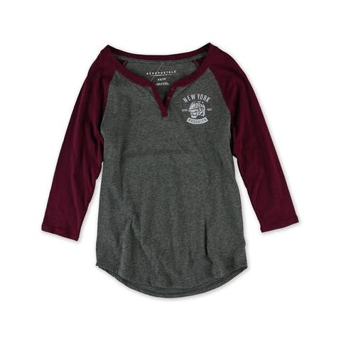 Aeropostale Womens Brooklyn Tiger Henley Shirt