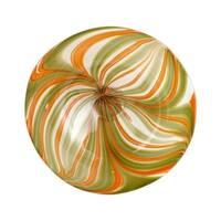 Cyan Design Medium Chika Plate Chika 19.75 Inch Diameter Glass Decorative Plate - Orange - N/A