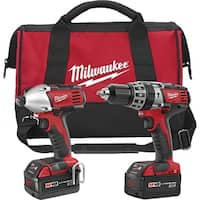 "Milwaukee Electric Tool MLW2697-22 M18.5"" Hammer Drill with Impact Driver Kit"