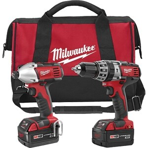 Milwaukee Electric Tool MLW2697-22 M18.5 Hammer Drill with Impact Driver Kit