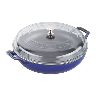 Staub Cast Iron 3.5-qt Braiser with Glass Lid