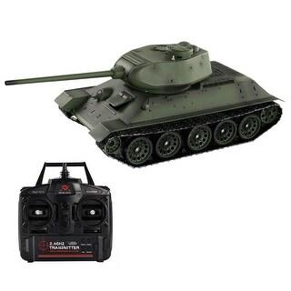 Costway 1:16 2.4G T34/85 Russian Army RC Battle Tank Smoke & Sound Radio Remote Control