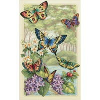 """Gold Collection Butterfly Forest Counted Cross Stitch Kit-10""""X16"""" 14 Count"""