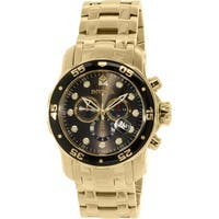 Invicta Men's Pro Diver  Gold Stainless-Steel Swiss Chronograph Dress Watch