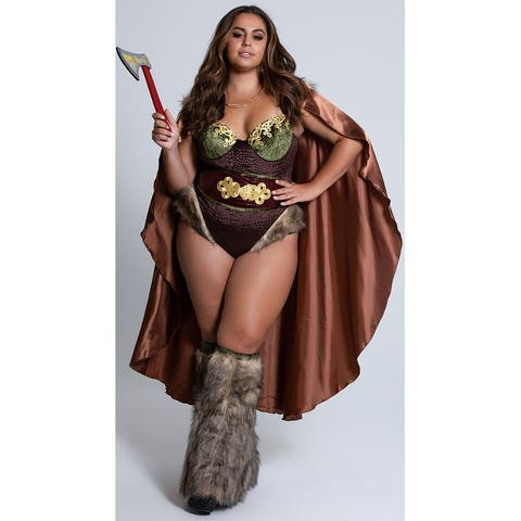 Plus Size Raider Of The Lost Heart Costume - As Shown