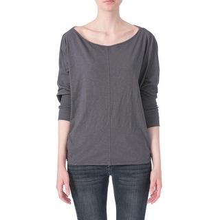 Velvet Womens Ribbed Contrast Trim Pullover Top