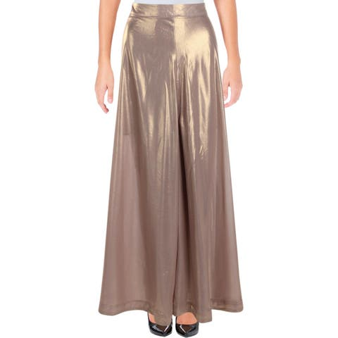 Free People Womens Maxi Skirt Metallic Illusion