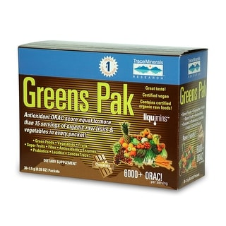 Trace Minerals Research - Greens Pak - Chocolate, 30 packet