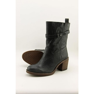 Lucky Brand Ramsey Round Toe Leather Mid Calf Boot