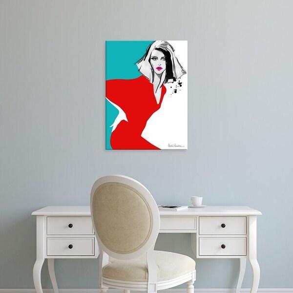 Easy Art Prints Aasha Ramdeen's 'Red Dress' Premium Canvas Art