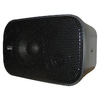 "PolyPlanar Compact Box Speaker-7-1/2"" x 4-15/16"" x 4-15/16"", Pair - Black"