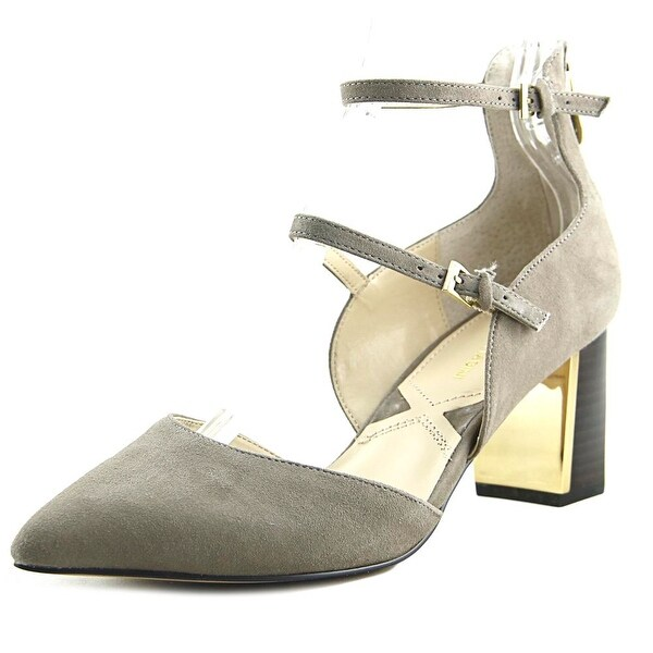Adrienne Vittadini Noble Women Pointed Toe Suede Gray Heels