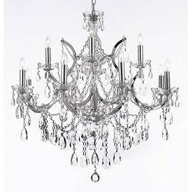 Swarovski Crystal Trimmed Maria Theresa Crystal Chandelier Lighting H30 x W28