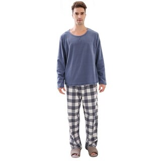 Richie House Men's Soft & Warm Lightweight Fleece Pajama Set