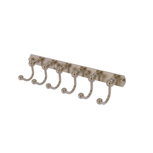 Allied Brass Prestige Skyline Collection 6 Position Tie and Belt Rack