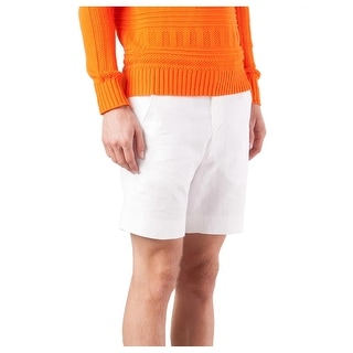Ovadia & Sons Bright White Pierre Shorts Flat Front