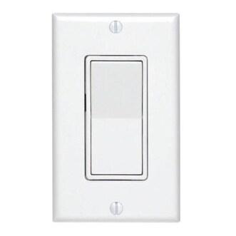 Shop Leviton C22-05673-02W 3-Way Decora Switch, 15Amp - Free ...
