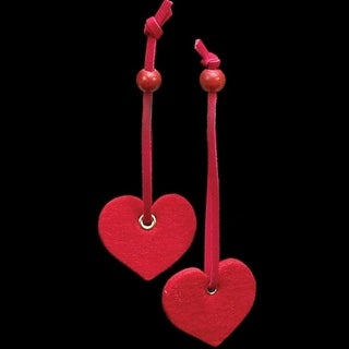 """Bright Red Small Heart with Hanger """"Felt Ornaments"""""""
