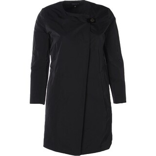 Lafayette 148 Womens Helene Raincoat Toggle Solid
