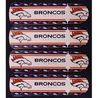 Denver Broncos NFL Print 42in Ceiling Fan Blades Set - Multi
