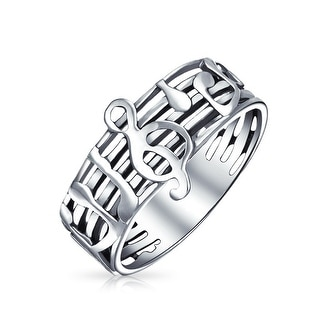 Link to Music Bar Measure Treble Clef Note Band Ring 925 Sterling Silver Similar Items in Bracelets