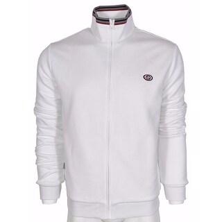 Gucci Men's White 322971 Cotton Blend GG Web Zip Front Sweatershirt Jacket XL