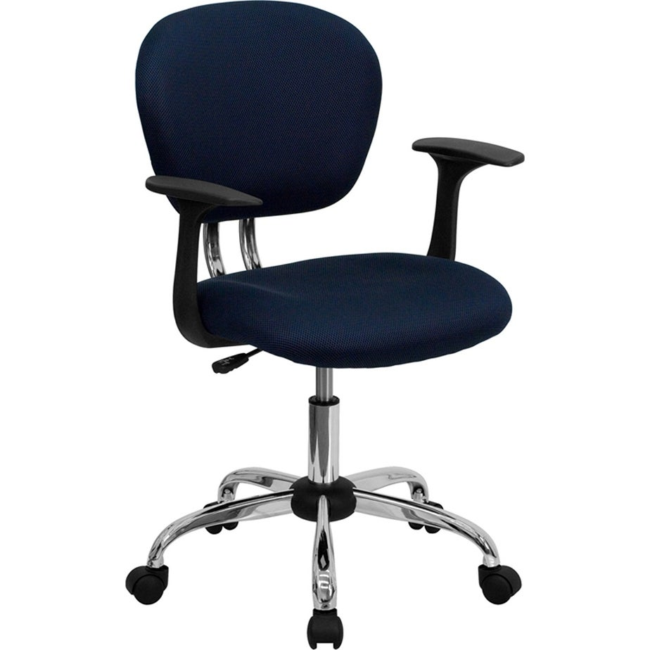 Brielle Mid-Back Navy Mesh Swivel Home/Office Task Chair w/Arms