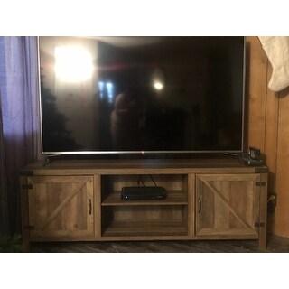 The Gray Barn Kujawa 70-inch Barn Door TV Stand Console - 70 x 16 x 24h