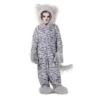 Deluxe Grey Cat Kids Costume