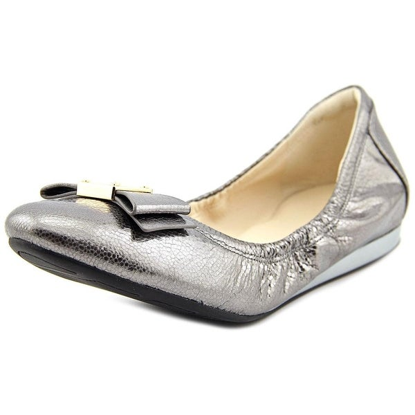 Cole Haan Tali Bow Ballet Round Toe Canvas Ballet Flats