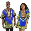 UNISEX Dashiki Men's Adult Summer Casual Loose Short Sleeve Cotton Jersey Kaftan T-Shirt - Thumbnail 3