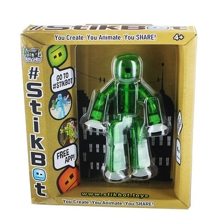Stikbot Single Action Figure Translucent Green