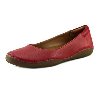 Clarks Artisan Autumn Sun Women Round Toe Leather Red Flats