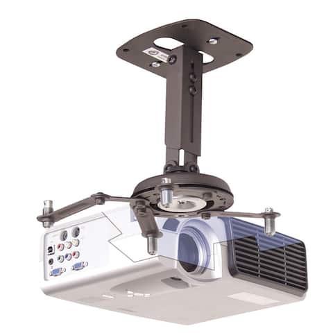 "12.5"" Universal Projector Mount Silver - Black"