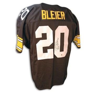 dca62f729bd Shop Autographed Rocky Bleier Steelers Black Throwback Jersey - Free ...