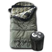 Wolftraders KidCanvas +0 Degree Fahrenheit Premium Canvas Roomy Youth Sleeping Bag