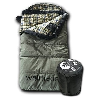 Wolftraders KidCanvas +0 Degree Fahrenheit Premium Canvas Roomy Youth Sleeping Bag