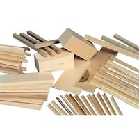 Sax Wood Scrap Bag, Assorted Size