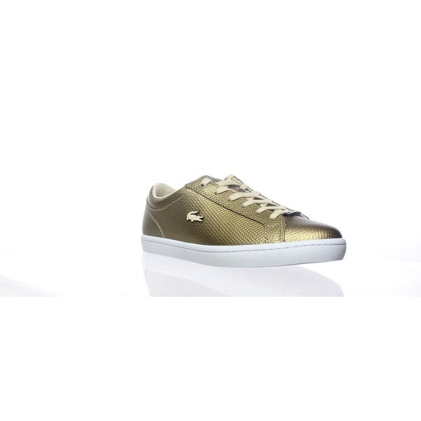 0b9939fb979 Shop Lacoste Womens Straightset Gold Fashion Sneaker Size 7 - Free ...