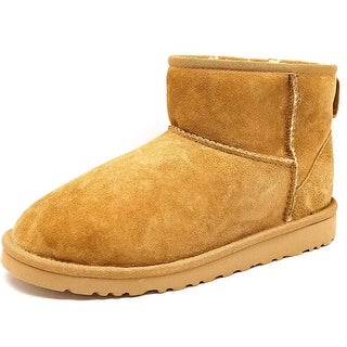 Ugg Australia Classic Mini Youth Round Toe Suede Brown Winter Boot