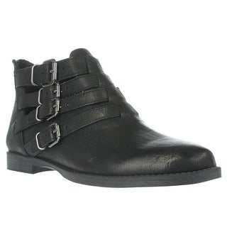 Bella Vita Ronan Buckle Ankle Boots - Black