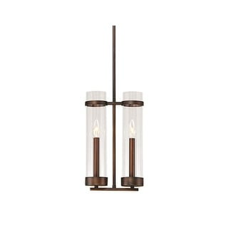 """Millennium Lighting 1982 Milan 9"""" Wide 2 Light Candle Style Mini Pendant with Clear Cylinder Shades"""