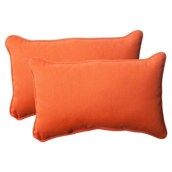 Shop Set Of 2 Orange Sunrise Outdoor Patio Rectangular Corded Throw