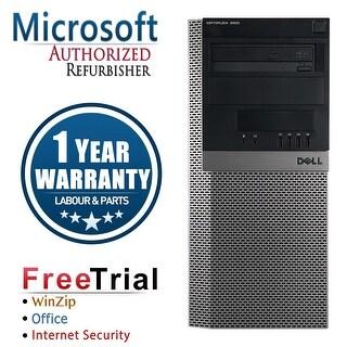Refurbished Dell OptiPlex 980 Tower Intel Core I5 650 3.2G 8G DDR3 2TB DVD Win 7 Pro 64 Bits 1 Year Warranty - Black