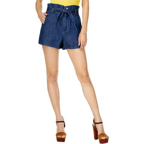 Guess Womens Sasha Paperbag Casual Denim Shorts