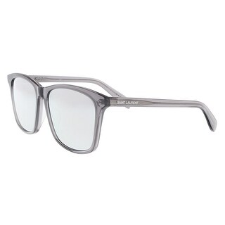 Saint Laurent SL 205/K-004 Clear Grey Round Sunglasses - 57-17-145